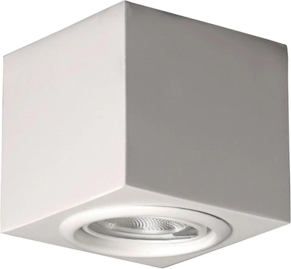 Plafon Sobrepor Orientavel Aluminio Branco Fosco