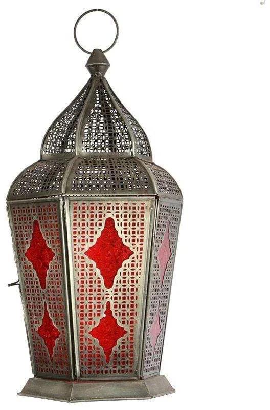Lanterna Indiana Samsara Vermelha