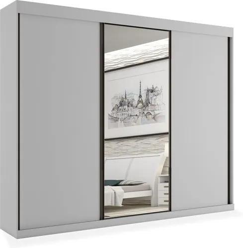 Armário Sion 03 portas deslizantes sendo 01 com espelho - 2,21, Padrao - Branco