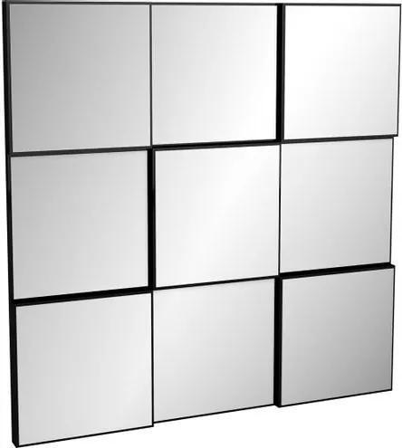 Quadro Espelho Block Pequeno 75cm (LARG) cor Preto Brilho - 52877 Sun House