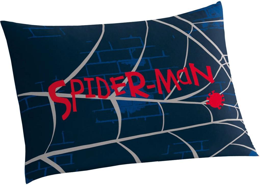Fronha Avulsa Estampada Spider Man 50 cm x 70 cm Com 1 peça Lepper Azul-Marinho
