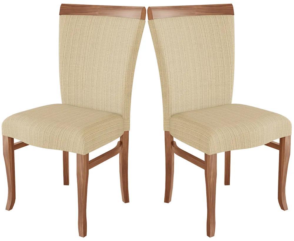 Cadeira Estofada Roma Madeira Maciça (2 Unidades)