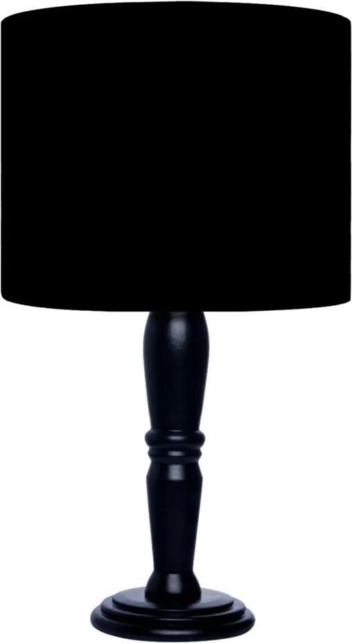 Abajur Carambola Tecido Preto Black
