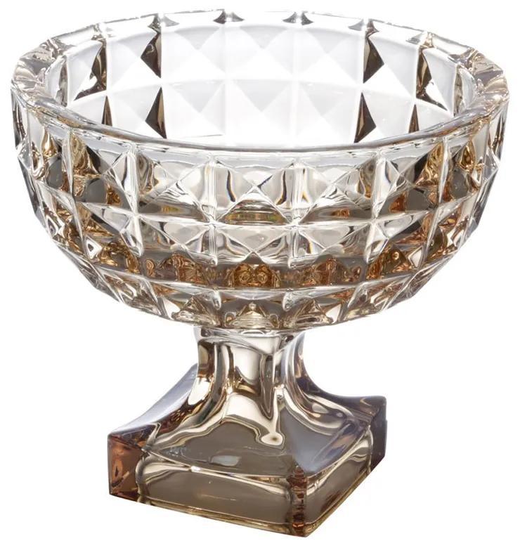 Fruteira Cristal Com Pé Diamant Âmbar 24x21,5cm 26057 Wolff