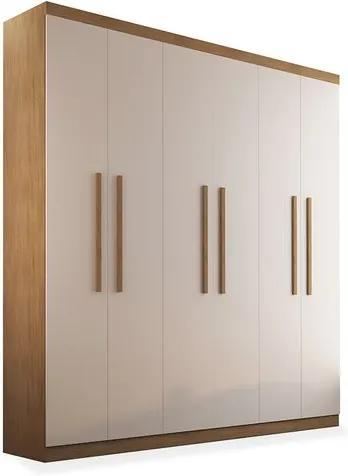 Armário Egeo 06 portas de abrir - 1,80, Padrao - Imbuia / Off White / Imbuia