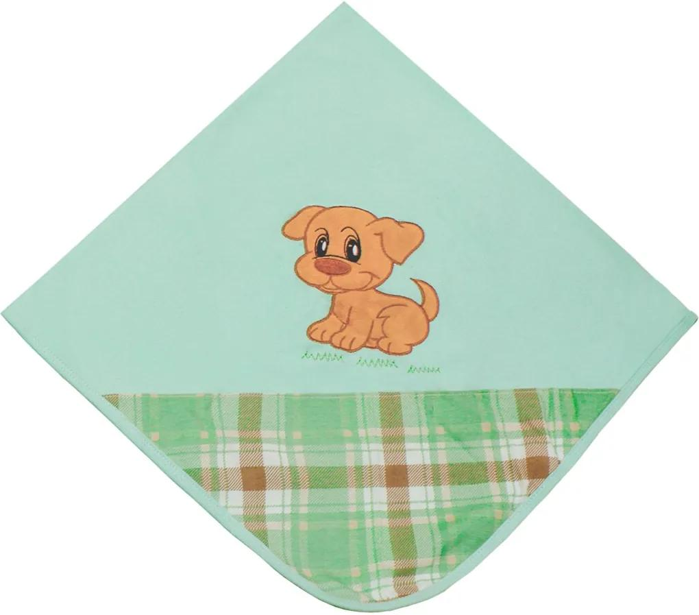 Manta de Bebê Padroeira Baby Cachorro Charlie Verde..