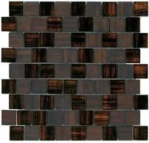 "Mosaico ""A"" 30x30 Malla Madras Teja Roca"