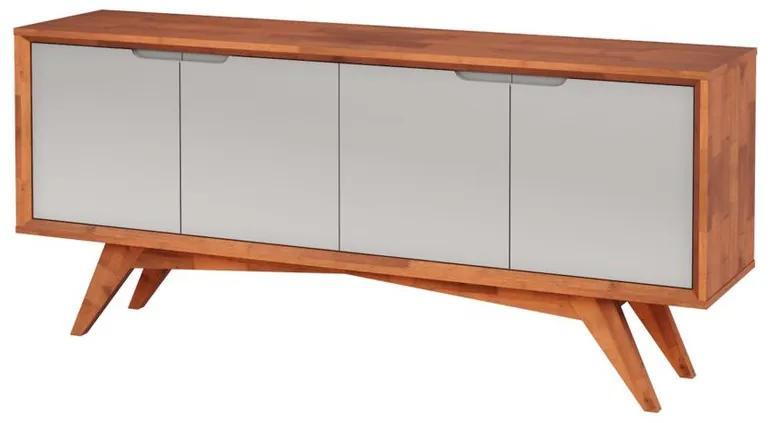 Buffet Querubim 4 Portas Natural e Fendi - Wood Prime MP  27591