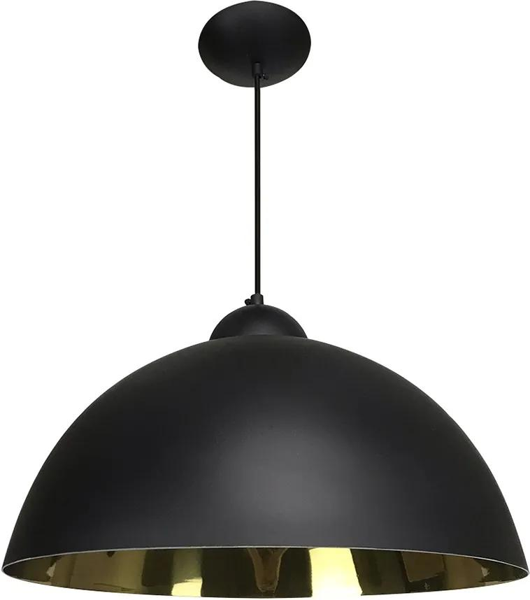 Pendente Esfera 40cm Preto Fosco/Ouro - Caisma - 3714-PTF/OU