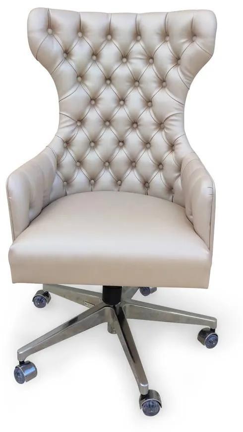 Cadeira Giratória Bergere Ajuste de Altura e Relax Design Clássico