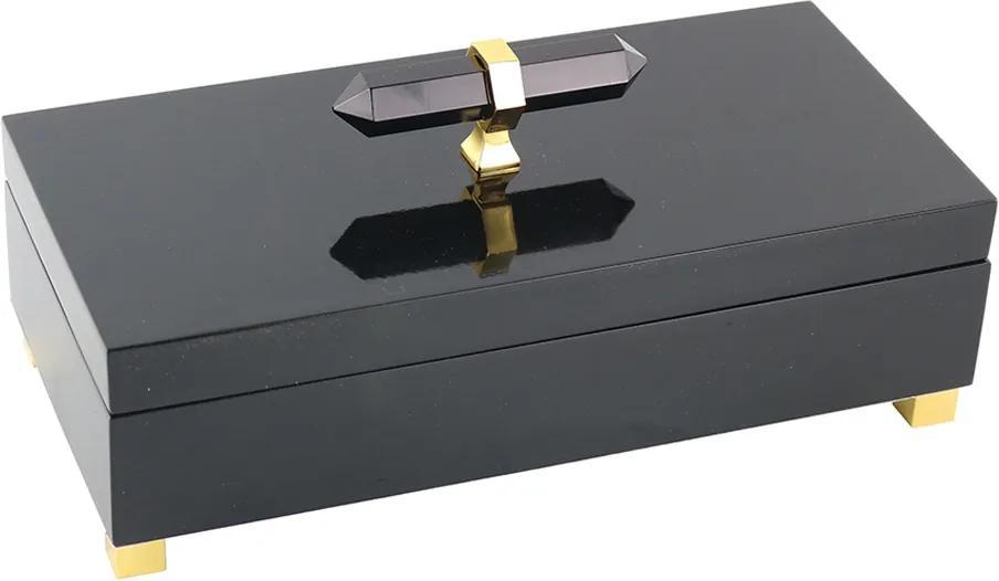 caixa DERICK com alça de pedra 28cm ilunato AH0228