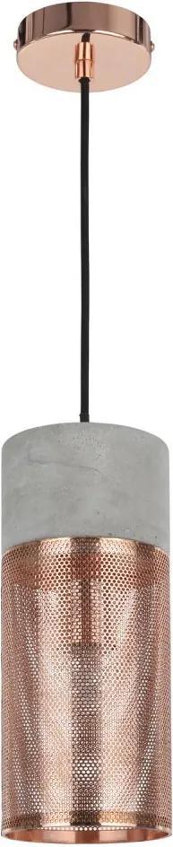 Pendente Telinha Concret Cobre - Bella Iluminação - CI016B