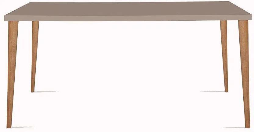 Mesa Eames 180cm Fendi/Castanho - Daf Mobiliário