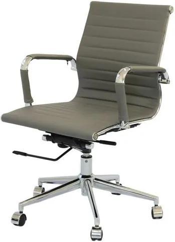 Cadeira Eames Baixa Cinza Base Cromada - 27107 Sun House