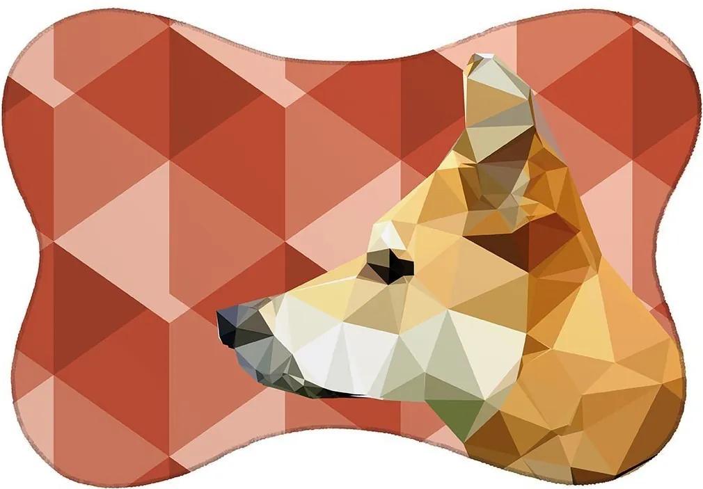 Tapete PET Cachorro Vermelho46x33cm
