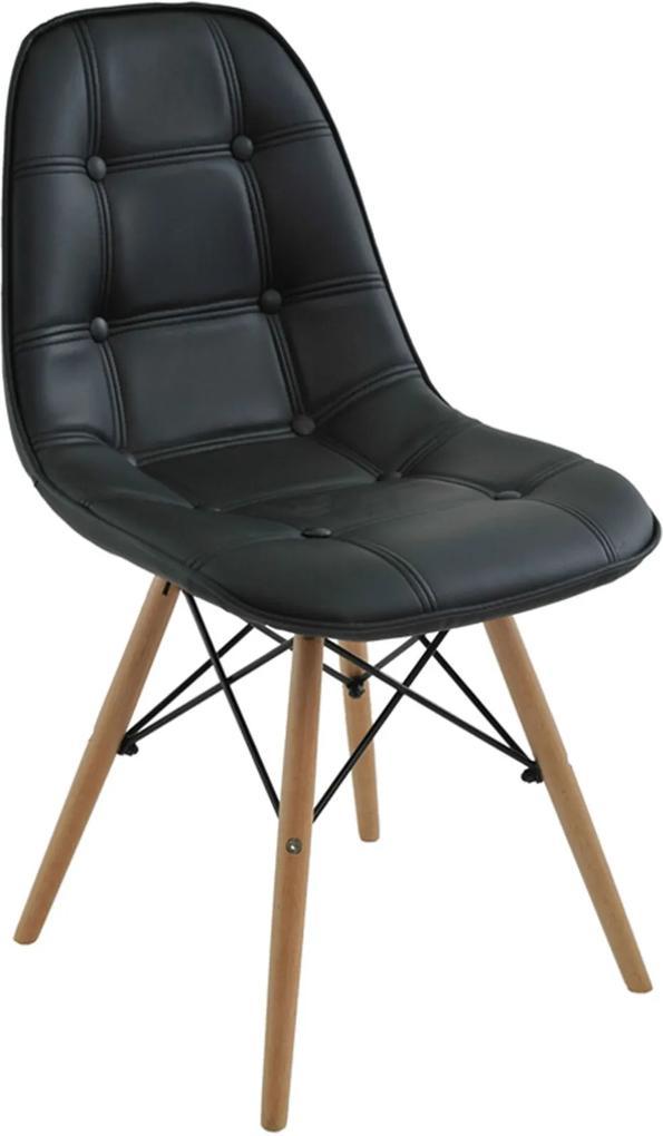 Cadeira Eiffel Sem Braço Botone Preto Rivatti