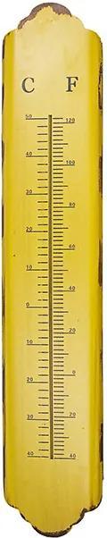 Termômetro em Metal Longo Amarelo