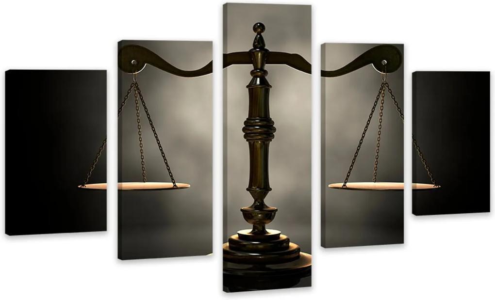 Quadro Oppen House  Canvas 75x125cm Balança Justiça Advocacia Decorativo Interiores