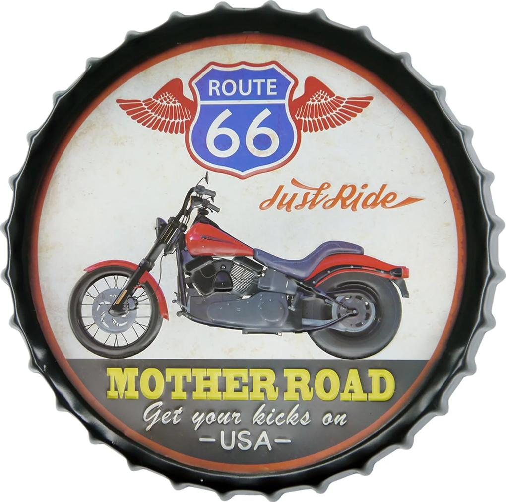 Tampa Kasa Ideia Mother Road de Metal 42cm