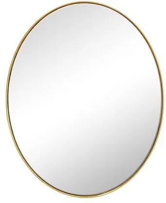 Espelho Oval com Moldura Folheada a Ouro - 61x51cm
