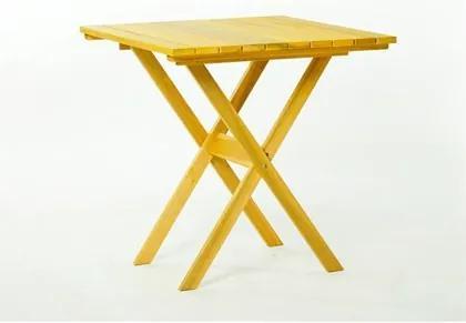 Mesa Dobrável Boteco Stain Amarelo - Mão & Formão