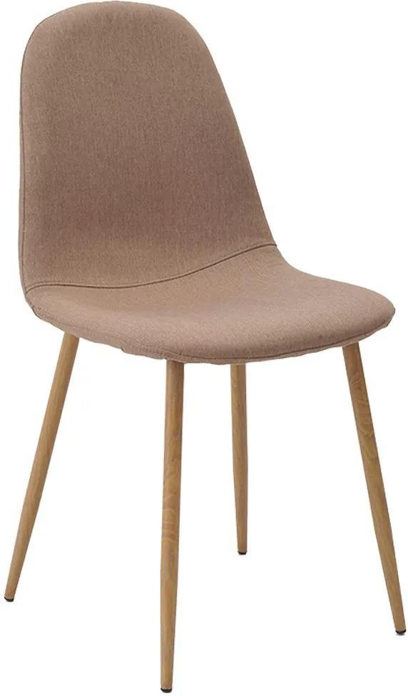 Cadeira Decorativa Sala e Escritorio Base Clara Emotion Linho Caqui - Gran Belo
