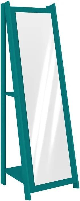 Espelho com Prateleira Retro/Vintage RT 3083 Movelbento - Turquesa