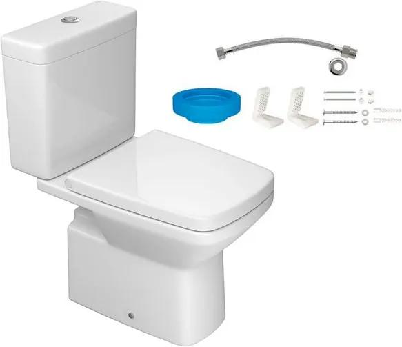 Kit Bacia com Caixa Acoplada e Assento Clean Branco + Conjunto de Fixação Flexível e Anel de Vedação - KP.460.17 - Deca - Deca