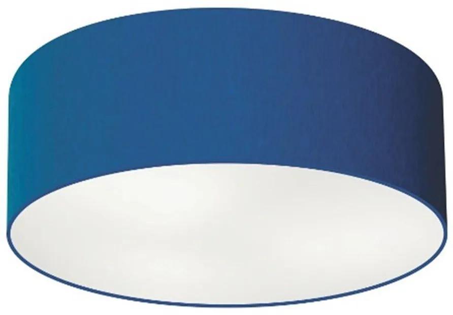 Plafon Cilíndrico Vivare Md-3006 Cúpula em Tecido 60x15cm - Bivolt - Azul Marinho - 110V/220V (Bivolt)