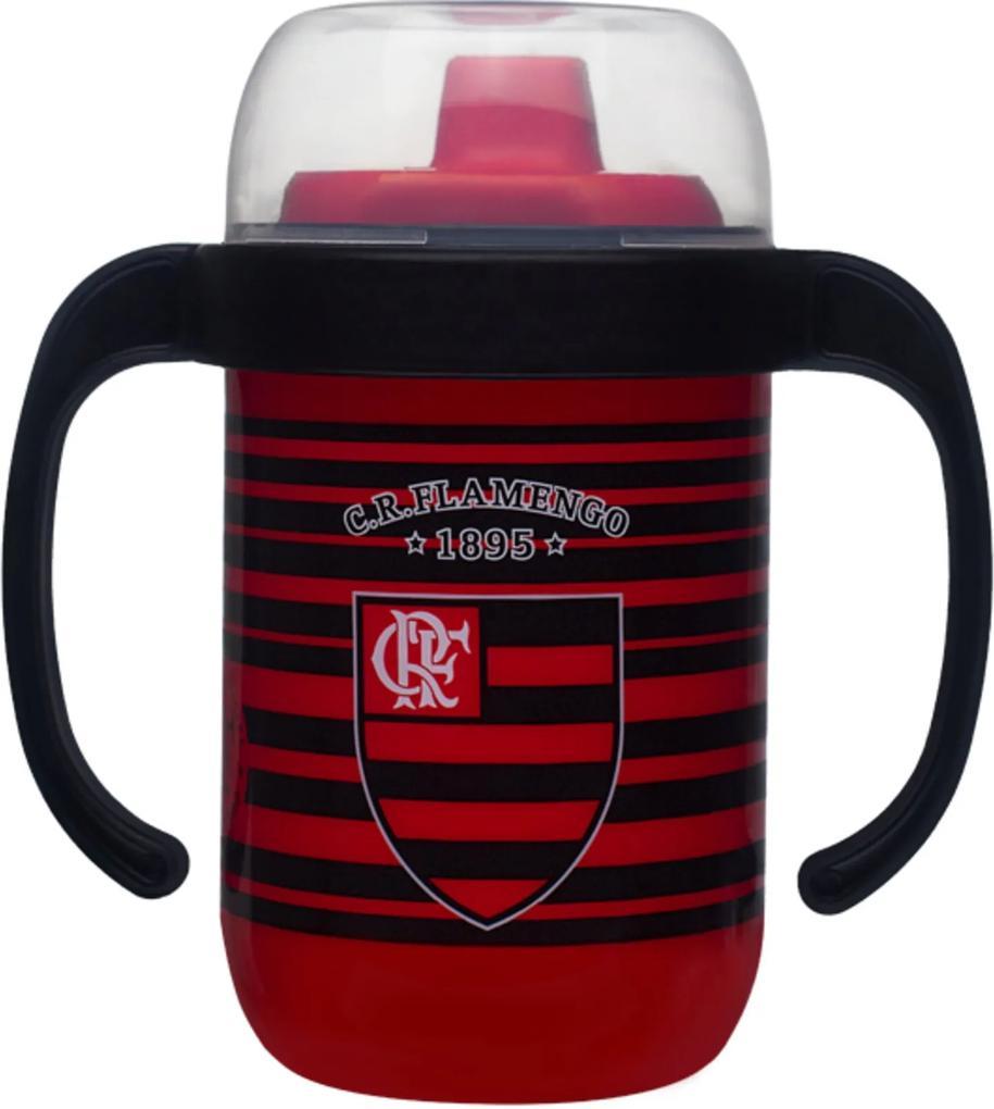 Copo Flamengo Antivazamento 250ml com Alça Lolly Baby Vermelho