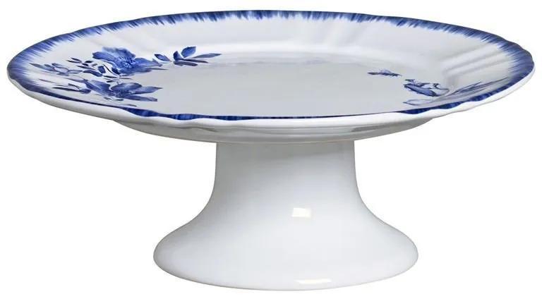 Prato De Cerâmica P/ Bolo C/ Pé - Demoiselle