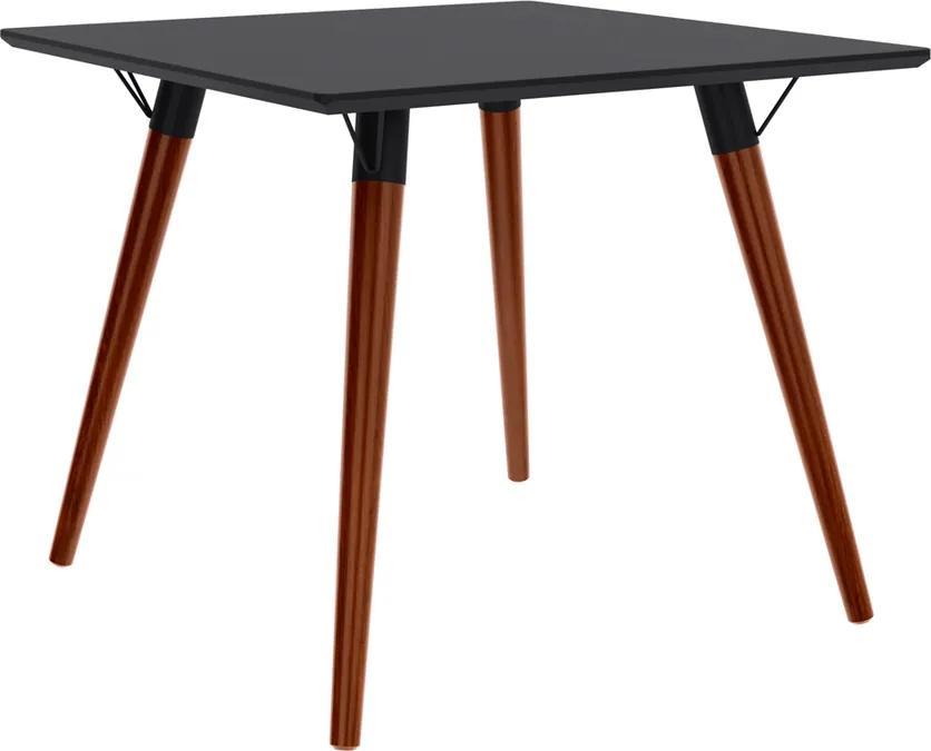 Mesa de Jantar Quadrada Marius 90x90 cm Preto - Wood Prime TS 34285