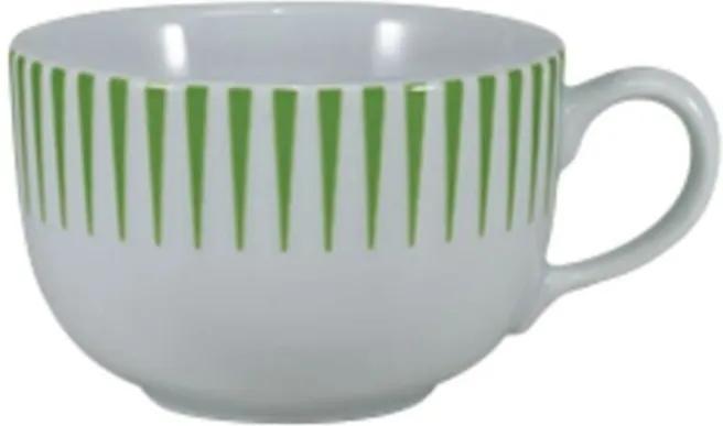 Xícara Café com Pires 100 ml Porcelana Schmidt - Dec. Sol Verde