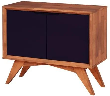 Buffet Uriel 2 Portas Natural e Roxo - Wood Prime MP 27562
