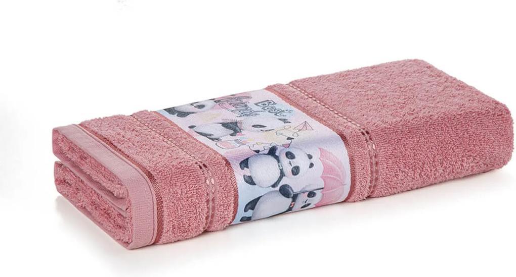 Toalha de Rosto Infantil Menina Lia Rosa Karsten 49x70cm