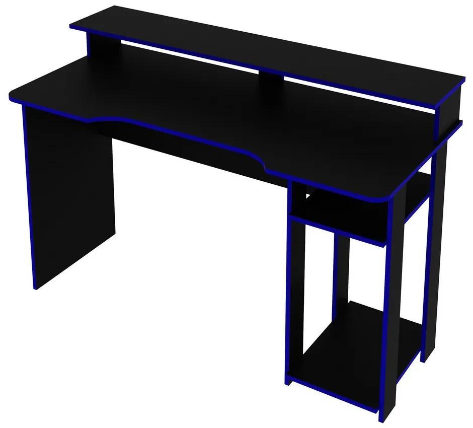 Mesa Gamer ME4153 Preto/Azul - Tecno Mobili