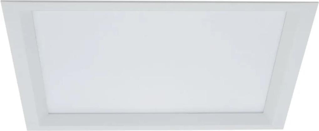 Plafon Embutir Aluminio Branco 24cm Slim Ii