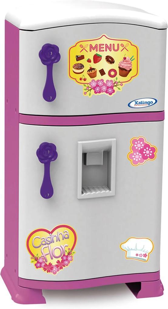 Refrigerador Pop Casinha Flor Rosa/Branco Xalingo