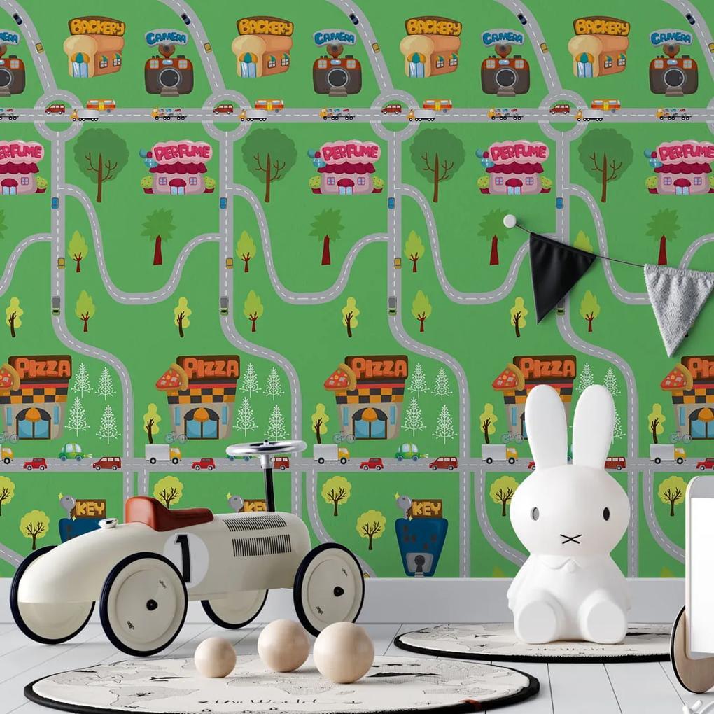 Papel de parede adesivo infantil cidade - 52cm x 3m