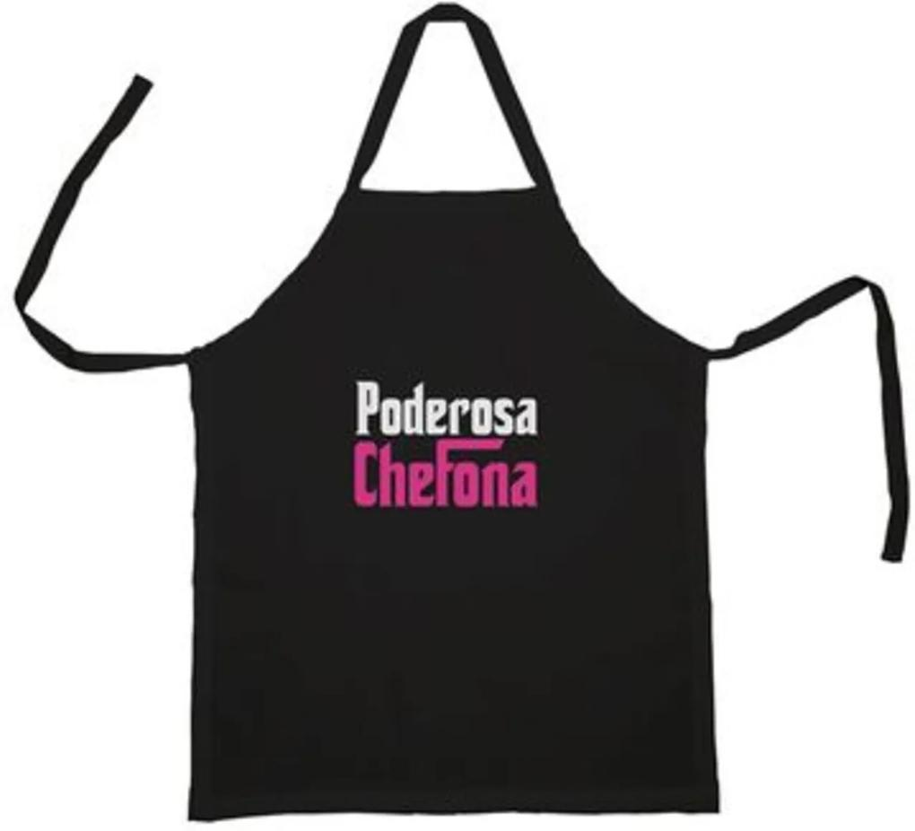 Avental Poderosa Chefona Geek10 - Preto