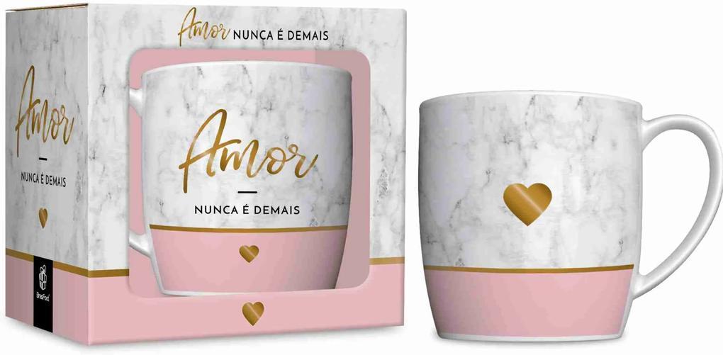 Caneca porcelana urban 360ml  - amor -  amor nunca É demais