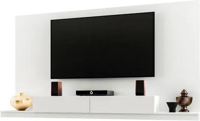 Painel Bancada Suspensa para TV até 60 Pol.  2.2 Monterrey Branco - Móveis Leão