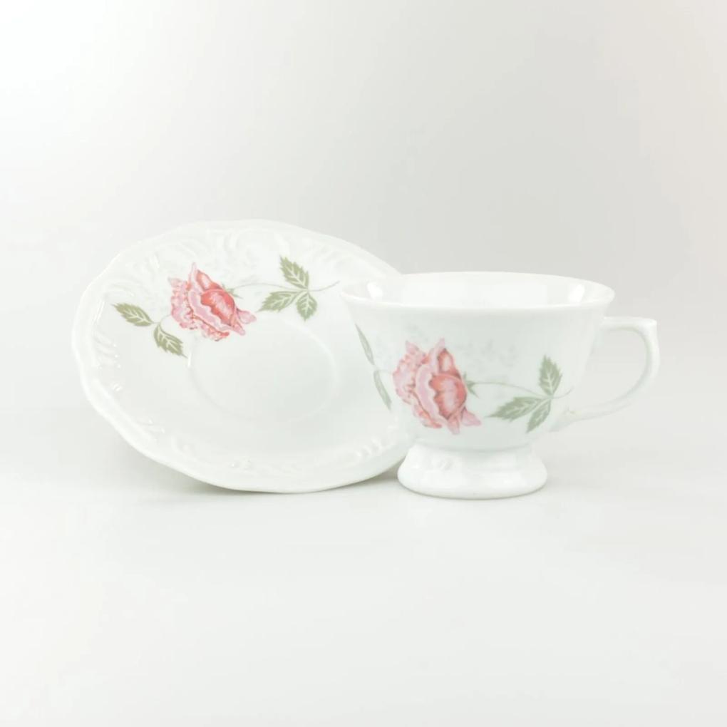 Xícara Chá Com Pires 200 ml Porcelana Schmidt - Dec. Olga 2° LINHA