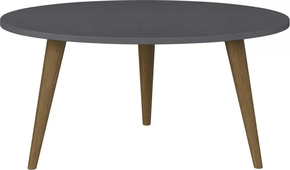 Mesa de Centro Oval 1007 Retro Espresso - Bentec