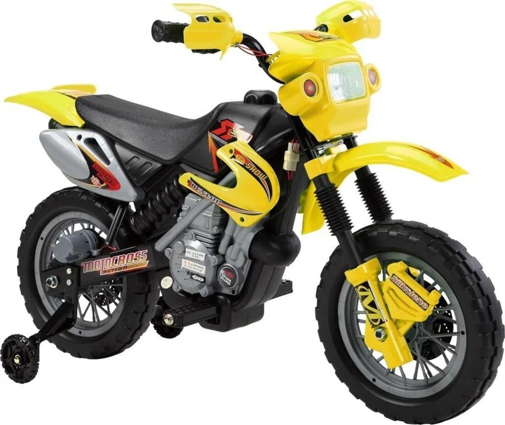 Moto Elétrica Infantil Amarelo Bel Brink