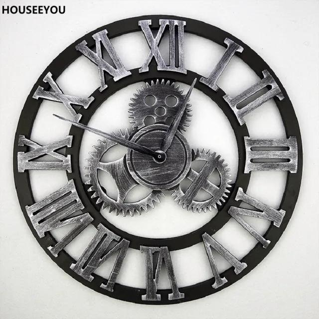 Relógio ENGRENAGEM parede metal    diâm 45 cm   Ilunato FP0002
