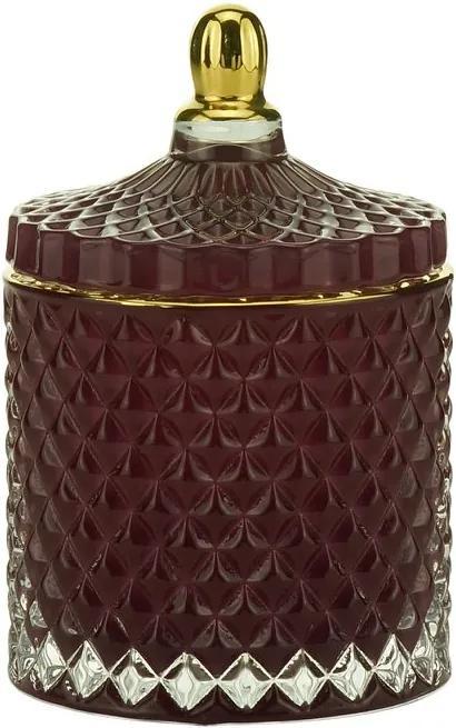 Potiche Decorativo Vidro Roxo 9x13cm 60688 Royal