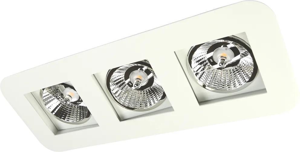 Plafon Embutir Aluminio Branco 47cm