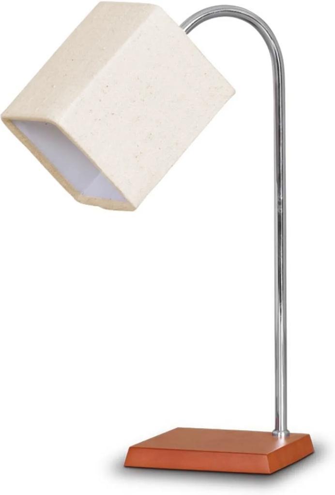 Abajur Trevisan de Madeira com Cúpula Quadrada 37cm Branco 174.05