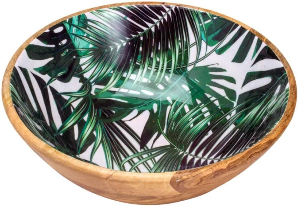 Saladeira Bon Gourmet de madeira Leafage Verde/Madeira